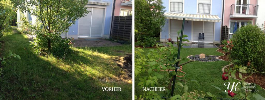 gartengestaltung vorher nachher - fototapete 2017, Gartenarbeit ideen